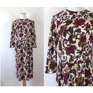 Vintage Lanz Dress 1980s Floral Print Size Medium